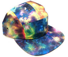 5 PANEL CAMPER TIE DYE GALAXY SPACE PRINT STRAPBACK SNAPBACK HAT CAP ADJUSTABLE