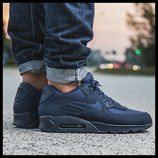 NIKE AIR MAX 90 ESSENTIAL midnight navy/midnight navy 537384-412 Mens sz 10