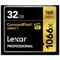 Lexar Professional 32GB Compact Flash 160MB/s CF Memory Card 1066x UDMA7 VPG-65