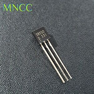 2pc - 50pc S8550 25V-1.5A-1W PNP Audio Frequency Amplifier Transistor TO-92