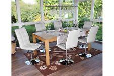 6 weisse Stühle Designer Chrom weiß Kunstleder 6er Set Esszimmerstuhl Stuhl weis