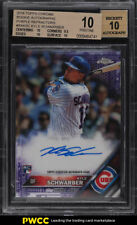 2016 Topps Chrome Purple Refractor Kyle Schwarber ROOKIE AUTO /250 BGS 10 (PWCC)