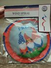 Patriotic Land of the Free Wind Spinner Spiral 39in. Knomes-BRAND NEW-SHIP N 24H