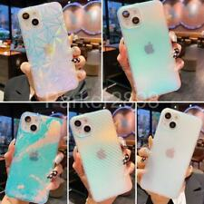 For iPhone 13 12 11 Pro XR XS Max 8 7 Plus Laser Frost Pattern TPU Case Cover