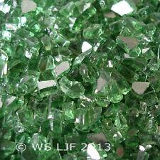 """10 LBS 1/4"""" Green Reflective Fireglass Fireplace Glass Rocks Fire Pit Crystals"""