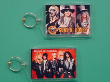 Guns N' Roses - Axl Rose, Slash - with 2 Photos - Collectible Gift Keychain