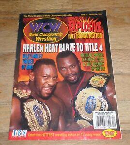 1995 Dec WCW Wrestling Magazine Harlem Heat Cover WWE Paul Wight AEW Booker T