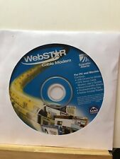 Pre-owned ~ WebStar Cable Modem For PC and Macintosh CD-ROM 2002 Disc Only