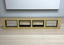 Vintage Modutec VU Meters in a 2U Rack Panel