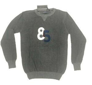 Tommy Hilfiger Men's Dark Grey Round Neck Sweater Pullover Size S-2XL