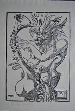 Original-Linolschnitte (1900-1949) mit figürlichem Motiv
