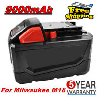 18V 9.0Ah Li-Ion Replace Battery For Milwaukee M18 48-11-1852 Extended Capacity