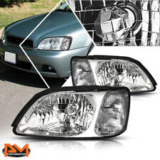 For 00-04 Subaru Legacy L Headlight/Lamps Replacement Chrome Housing Clear Side