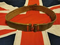 British Army WW2 style 37 Pattern Webbing Belt, Brass Fittings