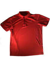 Puma Cell  Men's size XL Polo Shirt Golf Red Short Sleeves