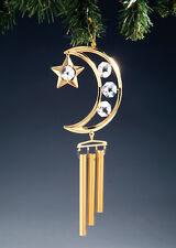 "SWAROVSKI CRYSTAL ELEMENTS ""Moon & Stars"" FIGURINE - ORNAMENT 24KT GOLD PLATED"