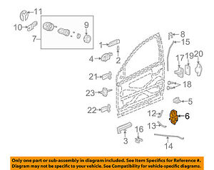 Saturn GM OEM 03-07 Ion Front Door-Lock 15900267