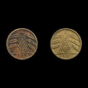 Job Lot of 2 - Germany 5 Reichspfennig - Weimar Republic Coins