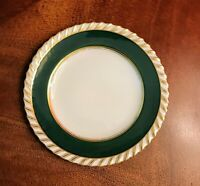 Franconia Krautheim Bread Side Plate Bavaria Green/Gold German Porcelain