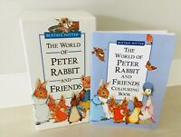 Beatrix Potter The World Of Petter Rabbit & Friends VHS Set 1993 & Colour Book