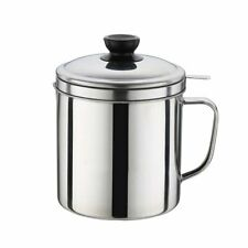 Kitchen Cooking Oil Filter Pot Soup Grease Stainless Steel Strainer Separator