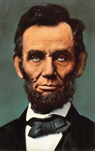 Abraham Lincoln Portrait Vintage Postcard K07