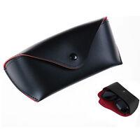 Durable Leder Brillenetui Sonnenbrille Brillen Lagerung Inhaber Box Tasche Case^