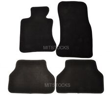 FIT FOR 2004-2010 BMW E60 5 SERIES BLACK CARPET FLOOR MATS NEW