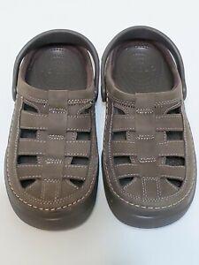 Men's Size 7 Crocs Leather Sandals Art No. 11300 New