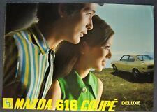 1971 Mazda 616 Coupe Deluxe Sales Brochure Folder Excellent Original 71
