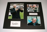 SIR BOBBY ROBSON - NEWCASTLE UNITED FC - HUGE SIGNED PHOTO MONTAGE