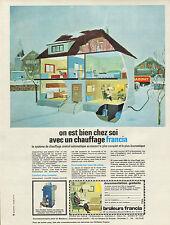 Publicité 1965  Chauffage FRANCIA au mazout