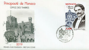 Monaco 2019 FDC Maurice Renaud Opera Singers 1v Cover Music Famous People Stamps