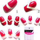 18 Sheets/Set French Manicure DIY Nail Art Tips Guides Stickers Stencil Strips