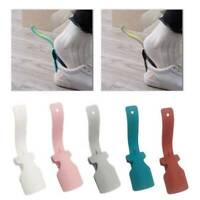 2PCS Plastic Lazy Shoe Helper Unisex Handled Shoe Horn Easy on & Off Easy Wear