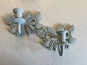 French Style Wall Lights Brass Wall Sconces Candle Sconces Grey Matching Pair