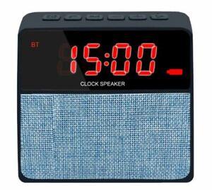 Reloj alarma Bluetooth, Radio y USB