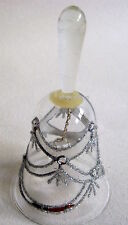 Hand/Table Bell Made of Glass Swan 12 Cm