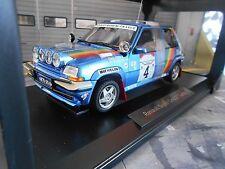 RENAULT 5 Turbo GT Rallye Bandama Ivoire 1990 #4 Oreille Diac elf Norev 1:18