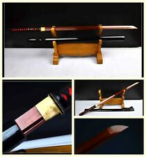 High Quality Japanese Samurai Full Tang Sword Katana Red High Carbon Steel Sharp