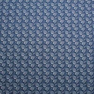 "Lightweight Printed Cotton Denim Paisley Blue, 60"""