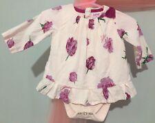 Baby Girls Designer Ted Baker Pink Tulip Floral Top Built In Vest 0-3m🌷