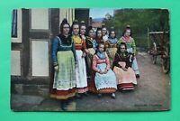 Hessen 11) AK 1910-20er Hessische Trachten Tradition Brauchtum