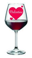 12 VALENTINE Heart sticker decal for WINE CHAMPAGNE Glasses