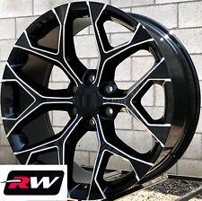 "22"" inch 22 x9"" Wheels for GMC Sierra 1500 Black Milled Rims CK156"