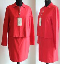 Tailleur gonna giacca donna 44 nuovo originale completo abito rosso