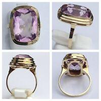 14 Karat Ring 333 er Gold mit Amethyst Edelsteine Goldring Gold 55 (17,5 mm Ø)