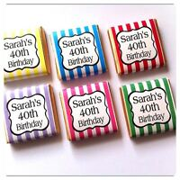 15 x Personalised Mint Chocolate Party Favour Birthday Wedding Candy Stripe