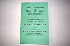 Adjusters Manual on CD: Service Singer 15 15-88 15-89 15-90 15-91 Sewing Machine