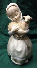 Nao By Lladro Young Girl With Lamb